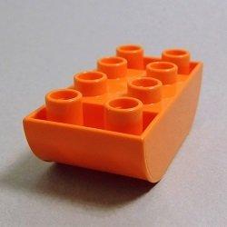 画像1: 6005013【Orange】デュプロ 2x4逆ダブルカーブブリック 1個