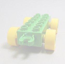 画像1: 6086684【Bright Green】デュプロ 2x6カーベース 1個