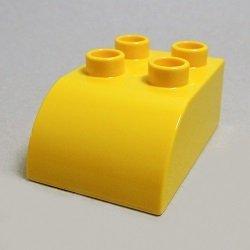 画像1: 230224【Yellow】デュプロ 2x3カーブブリック 1個