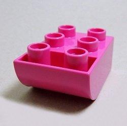 画像1: 4654903【Dark Pink】デュプロ 2x3逆カーブブリック 1個