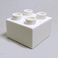 画像1: 343701【White】デュプロ 2x2ブリック 1個
