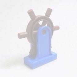 画像1: 6033220+6033216【Blue+Reddish Brown】デュプロ 舵輪 1個