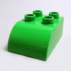 画像1: 4170797【Bright Green】デュプロ 2x3カーブブリック 1個