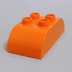 画像1: 4659508【Orange】デュプロ 2x4ダブルカーブブリック 1個