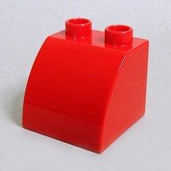 画像1: 6020407【Red】デュプロ 2x2x1.5カーブブリック 1個