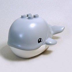 画像1: 6129621+6129620【Light Bluish Gray】デュプロ クジラ 1個