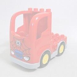 画像1: 6120597+6135456,6056593【Red+Light Bluish Gray】デュプロ トラック(スパイダーマン) 1個