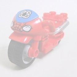 画像1: 6117920【Red】デュプロ バイク(スパイダーマン) 1個