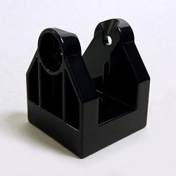 画像1: 6036717【Black】デュプロ 2x2x2ヒンジ・ベース(凹,タンテホールあり) 1個