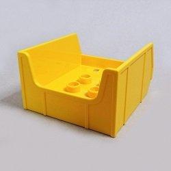 画像1: 6036780【Yellow】デュプロ 4x4ダンプボックス(凸) 1個