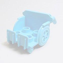 画像1: 6174637【Medium Azure】デュプロ 車いす 1個