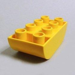 画像1: 6171865【Yellow】デュプロ 2x4逆ダブルカーブブリック 1個