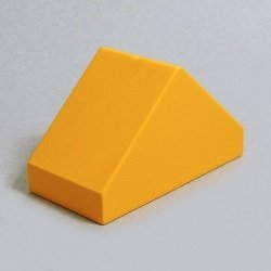 画像1: 6184967【Bright Light Orange】デュプロ 2x4x2ダブルスロープ 1個