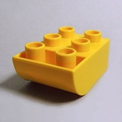 画像1: 6167549【Yellow】デュプロ 2x3逆カーブブリック 1個