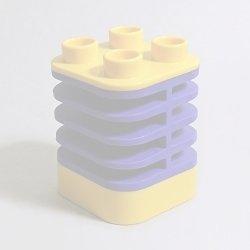 画像1: 6217631【Yellow+Dark Purple】デュプロ スプリング 1個