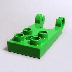 画像1: 6211344【Bright Green】デュプロ 2x4ヒンジ・ベースプレート(凹,タンテホールあり) 1枚