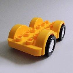 画像1: 6249897【Bright Light Orange】デュプロ 2x6カーベース(White Wheels) 1個