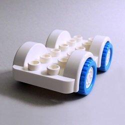 画像1: 6286216【White】デュプロ 2x6カーベース(Dark Azure Tires) 1個