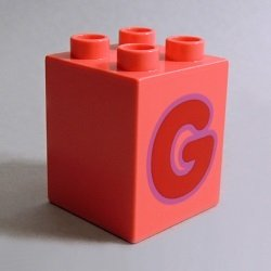 画像1: 6286311【Coral】デュプロ 2x2x2ブリック(G) 1個