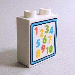 画像1: 6286241【White】デュプロ 1x2x2ブリック(数字) 1個