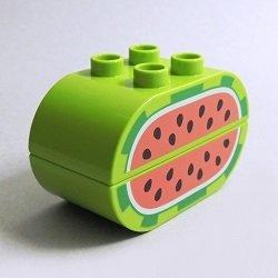 画像1: 6340635+6340636【Lime】デュプロ スイカ 1セット